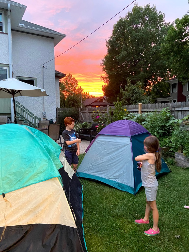 camp in backyard first
