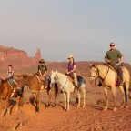Horseback trail riding in Moab